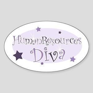 """Human Resources Diva"" [purpl Oval Sticker"